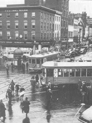 Trolley tracks entered and exited York's Continental Square in the heyday of York County's far-flung street railways in the first third of the 20th century. The tracks led to York's northwest area – the Avenues, long one of the city's most desirable neighborhoods.