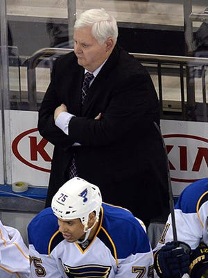 St. Louis Blues coach Ken Hitchcock's contract would have run out at the end of June.