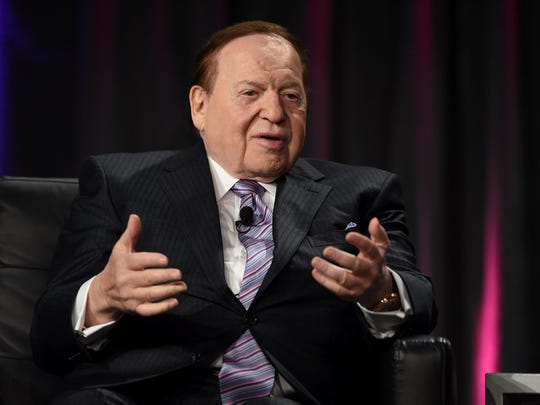 Sands Corp. Chairman and CEO Sheldon Adelson speaks at the Global Gaming Expo (G2E) 2014 at the Venetian Las Vegas on October 1, 2014 in Las Vegas.