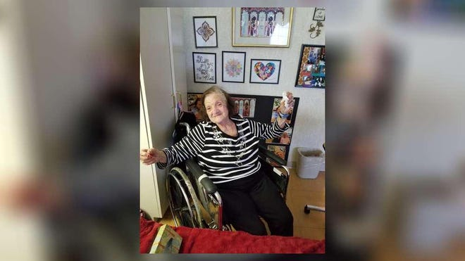 Freda Rosenberg, 107,  is one of many seniors under lockdown at a nursing home.