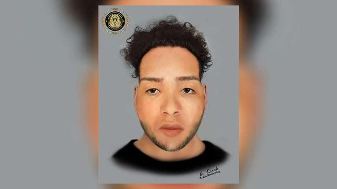 This artist's rendering shows a man who was killed Saturday in a crash south of Greenacres. Authorities are asking for help identifying him.
