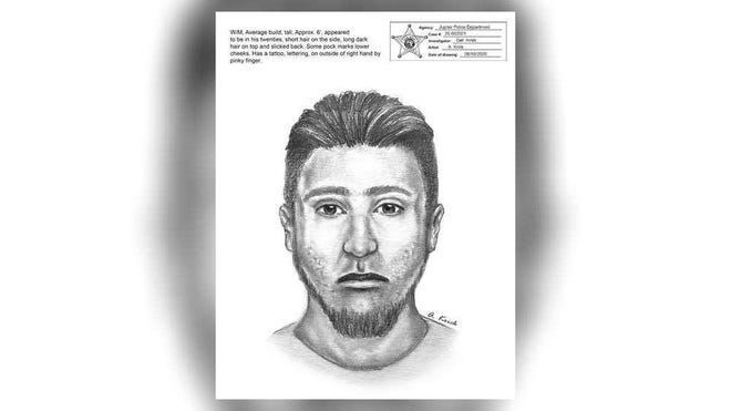 This artist rendering shows a man police say was involved in a home invasion and sexual battery in late May.