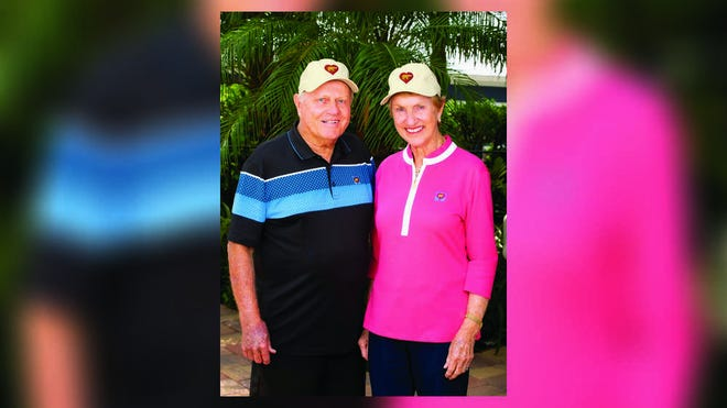 "Golf legend Jack Nicklaus and his wife, Barbara, launched their ""Wear the Bear. Show You Care."" campaign last month to support the COVID-19 Relief Fund at Nicklaus Children's Hospital. Barbara Nicklaus is co-founder of the Nicklaus Children's Health Care Foundation."