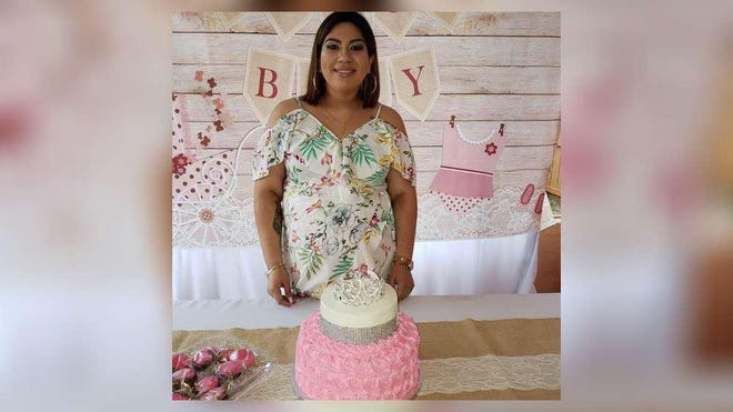 Samantha Diaz at her baby shower when she was pregnant with her youngest child. Diaz died on July 10 of coronavirus. She worked as a medical assistant.