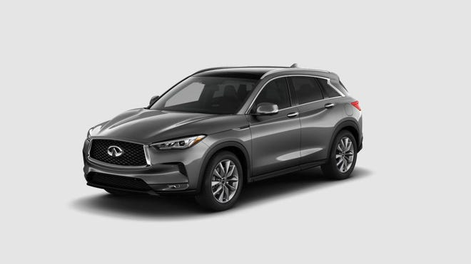 Tuned for premium gasoline, the 2020 Infiniti QX50's engine makes 268 horsepower and 280 pound-feet of torque and delivers city/highway/combined fuel economy of 22/28/25 miles to the gallon.