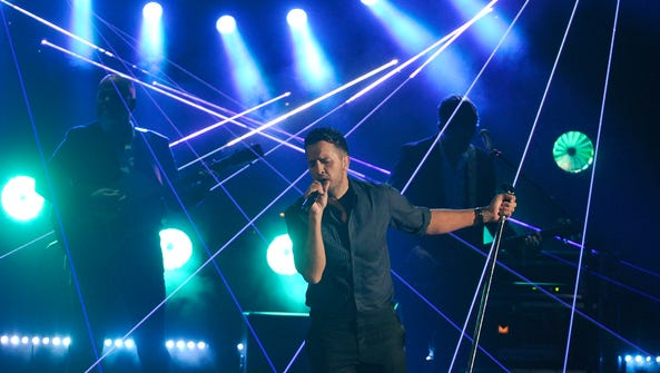 """Luke Bryan performs """"Strip it Down"""" at the 49th Annual"""