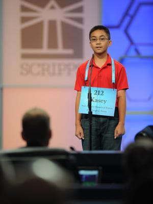 Kasey Torres participated in the televised Rounds 2 and 3 of the Scripps National Spelling Bee on Wednesday. He was eliminated in Round 3.