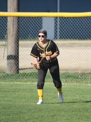 Camden outfielder Paige Hampton.