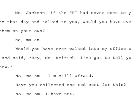 Transcript in Andrew Thomas case