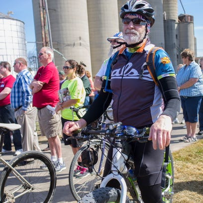 George Raimer, from Saranac, biked over 40 miles and