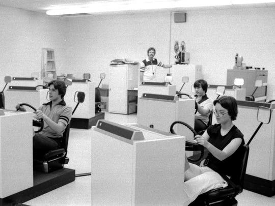 Vineland High School drivers ed class in 1978.