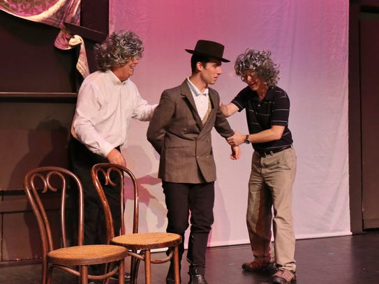 Dress rehearsal for 'The 39 Steps'