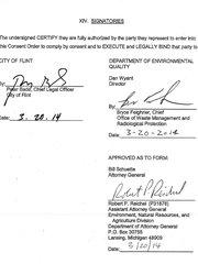 An attorney from AG Schuette's office signed off on