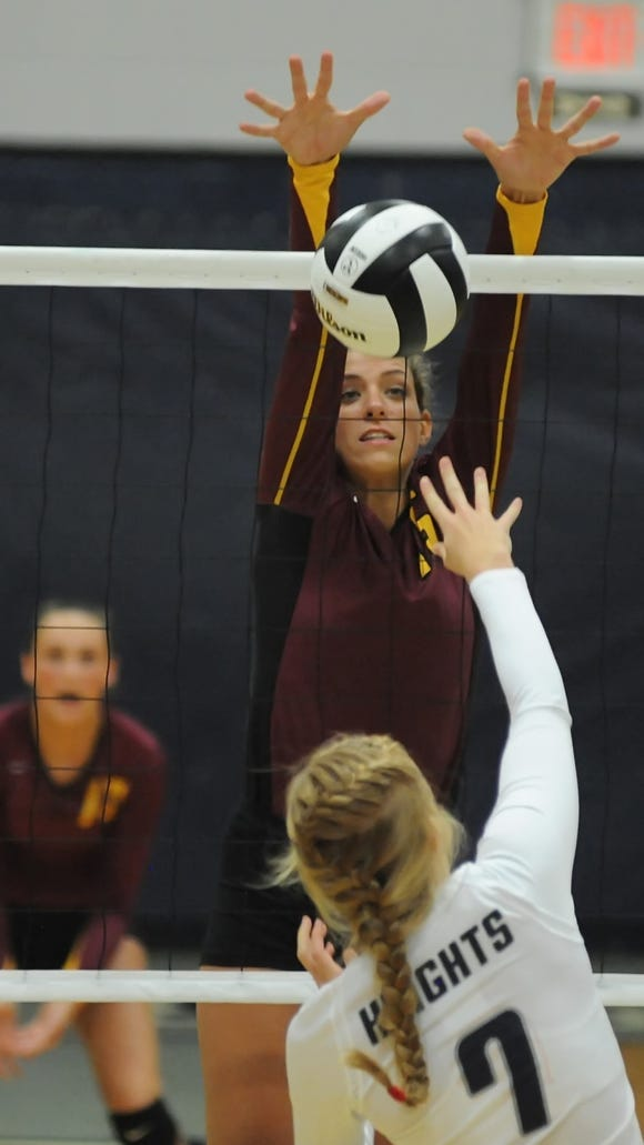 Tuesday night volleyball action as Central Catholic girls host McCutcheon.