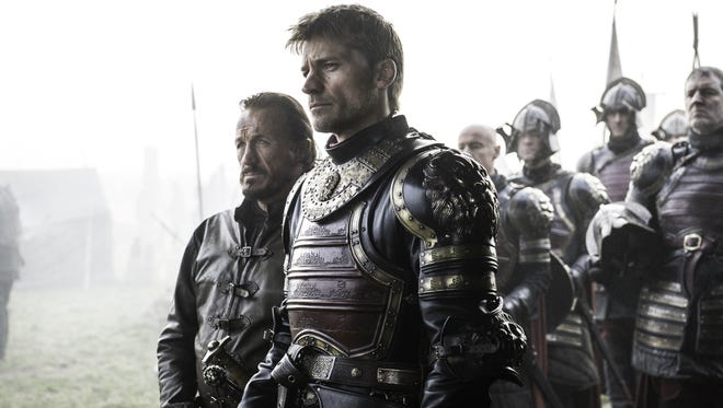 "Jerome Flynn (left) and Nikolaj Coster-Waldau in a scene from ""Game of Thrones,"" Season Six."