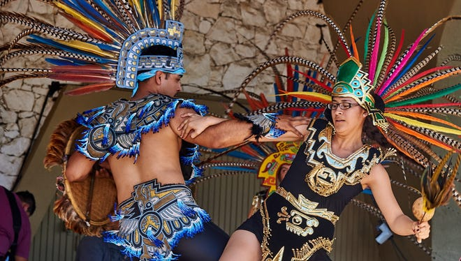 Aztecan dancers entertained the crowd