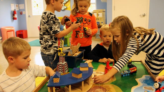 Children enjoy playing at The Growing Place in Independence. The day care center also offers a preschool program.