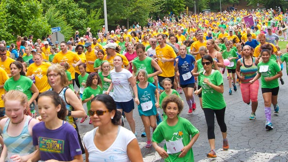 The 29th Girls on the Run of WNC 5K will be Sunday,