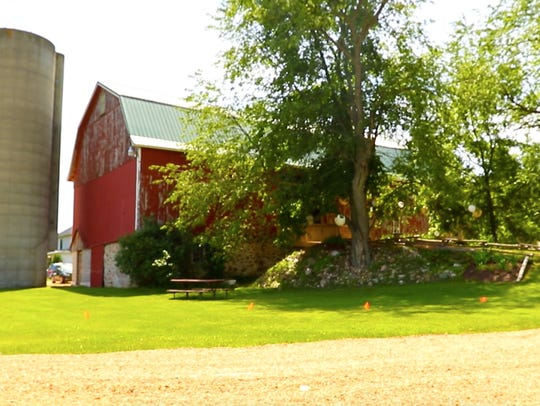 A photo of Lot 671 barn Saturday, June 23, 2018, in