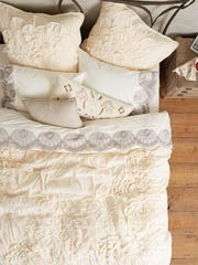A ruched cotton voile and jersey flowers creates a soft, floaty duvet from Anthropologie. With long summer days and languid nights ahead, creating an ethereal, relaxing space is a fun idea.