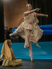 Mary Olivia Dudley as the Muse. The Alabama Dance Theatre