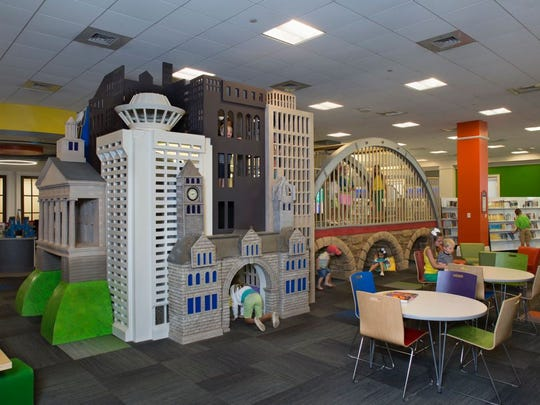 The Nashville Public Library Children's Department was recognized for delighting children with a new play space with Nashville-themed landmarks.