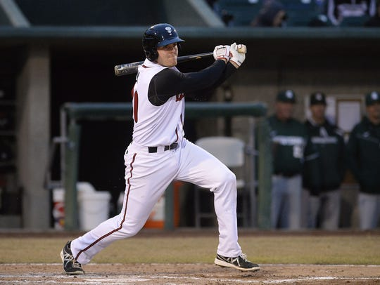 At age 20, Mitch Nay starred for the Lansing Lugnuts