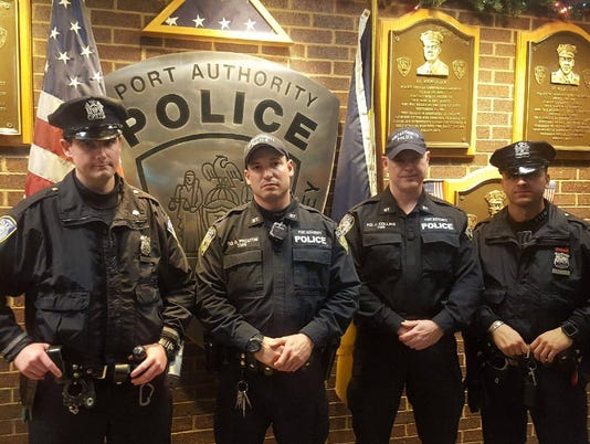 Officers hailed as heroes in pipe bomb blast