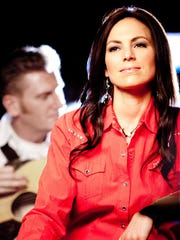 Joey Martin Feek, foreground, formed the Joey & Rory duo with husband Rory Feek .