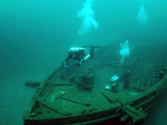 The Rouse Simmons was full of Christmas trees and bound for Chicago when it sank in 1912.