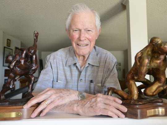 Dr. Stanley Henson, shown at the age of 97 in 2014,