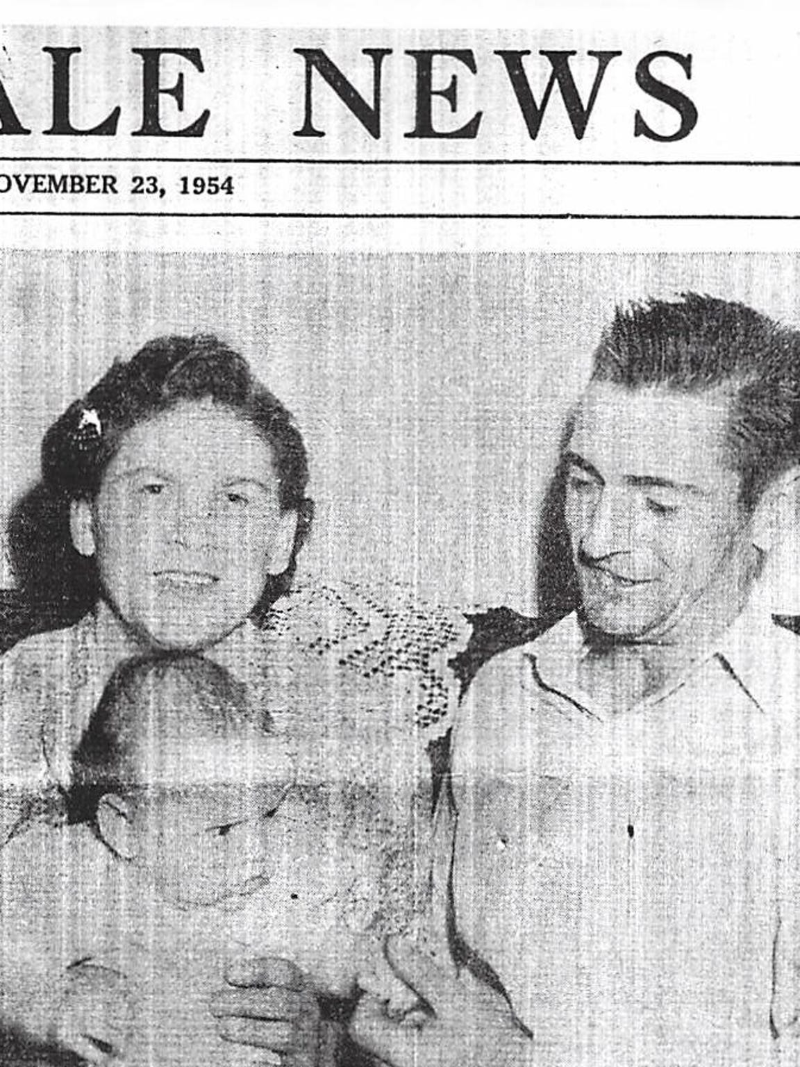 A newspaper story on Nina and her husband from 1954.