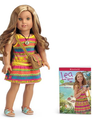 "Lea, American Girl Dolls' ""Girl of the Year,"" is an adventurer and photographer ."