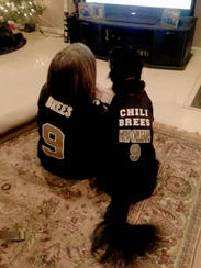 Chili and I are long-time Saints fans.