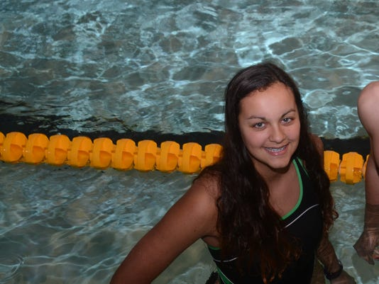 ANI All Cenla Swimmers ASH's Brianna Serret (left) and Val Robichaaux are the All Cenla female and male swimmers. Wednesday, Dec. 10, 2014.-Melinda Martinez/mmartinez@thetowntalk.com