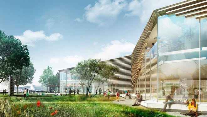 A  sample inspiration concept image of  the MAM Center building design. Manuel Zeitlin Architects is designing the actual building.