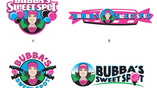 You can choose the logo for Bubba's Sweet Spot candy shop.