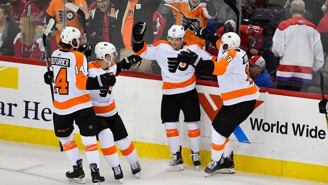 Travis Konecny scored the winner 27 seconds into overtime to put the Flyers over the Capitals 2-1.