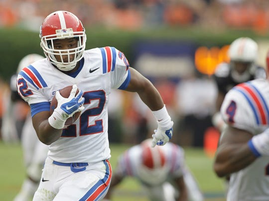 Louisiana Tech running back Jarred Craft carries against Auburn on Sept. 27.