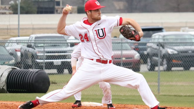 Junior Marty Coursey pitches for Union University in Jackson, Tennessee, this season.