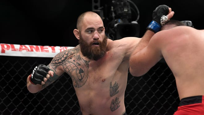 Travis Browne was forced to tap out in the second round at UFC 213.