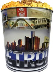 The new Detroit Tour tin from Detroit Popcorn