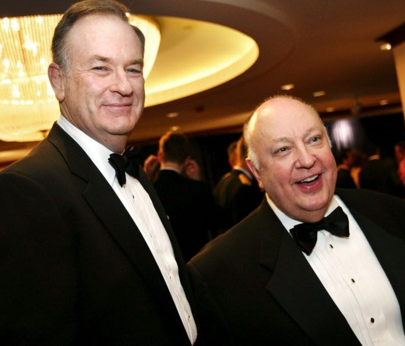 Bill O'Reilly and Roger Ailes in 2003.