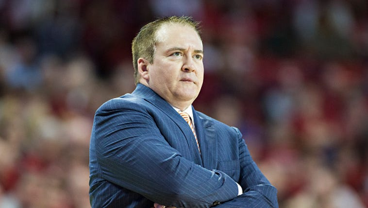 Head coach Donnie Tyndall of the Tennessee Volunteers