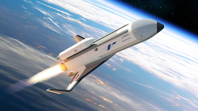 Concept image of Boeing's Phantom Express, which the company is developing for the Defense Advanced Research Projects Agency's Experimental Spaceplane 1 program, or XS-1.
