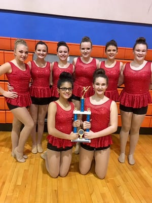 UCMS Dance Team came in 1st Place Middle School Small Jazz Division at KDCO 2nd Region Dance Competition on 1/7/17. They qualified for state competitions which will be held on February 18th & 19th in Frankfort. UCMS Dance Team: Maggie Nelson, Trista Utley, Chloe Yates, Madison Steelman, Rayleigh Blackburn, Natalie Hendgepath, Sofia Ariza and Sara Luttrell.