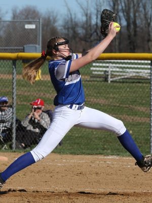 Lake's Jessica LeBeau delivers a pitch during the first inning of a game last season.