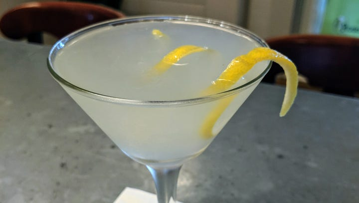 Pear vodka, ginger liqueur flavor this Lake Park Bistro martini - You Asked for It