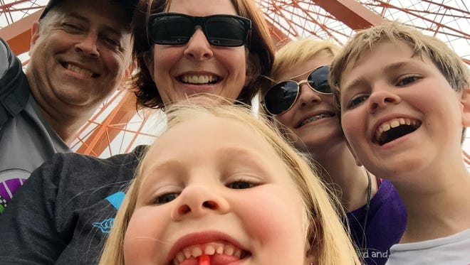 This family of five had a great time exploring Kentucky Kingdom and Hurricane Bay.