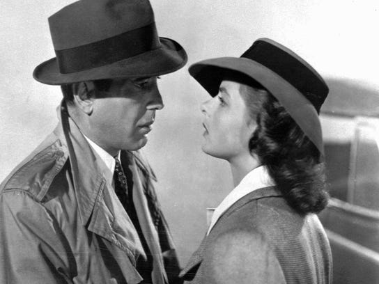 """Humphrey Bogart and Ingrid Bergman in a scene from the classic film """"Casablanca."""" The film will be screened Tuesday at the REX Theatre in downtown Pensacola."""